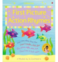 First Picture Action Rhymes (Usborne First Picture Books)